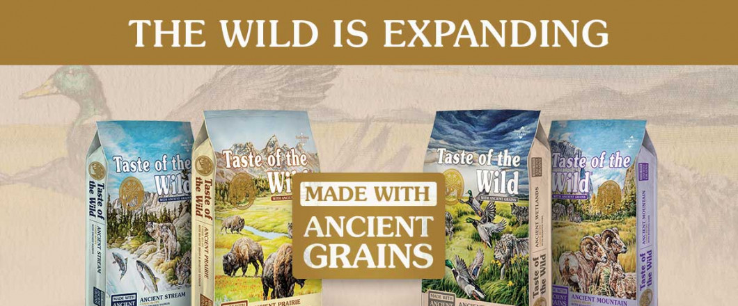 New at Top Knots: Taste of the Wild Ancient Grains - due to the number of dogs exhibiting heart problems possibly associated with grain free food, we have added two of the new taste of the wild ancient grains formulas. Stop in and try our free samples!